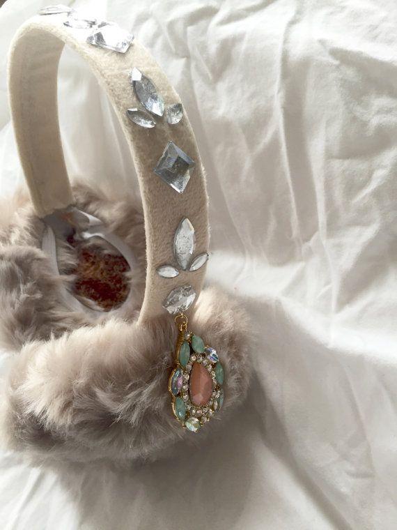 Jeweled earmuffs! My scream queens wardrobe is complete! ($48 via Etsy)