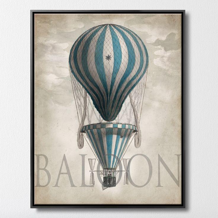 OLD BALOON 3      MIXGALLERY transport,ballon,vintage,wallart,canvas,canvas print,home decor, wall,framed prints,framed canvas,artwork,art