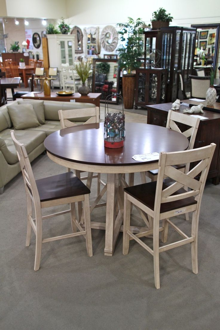 Pub Style Round Dinette Table W 4 Chairs