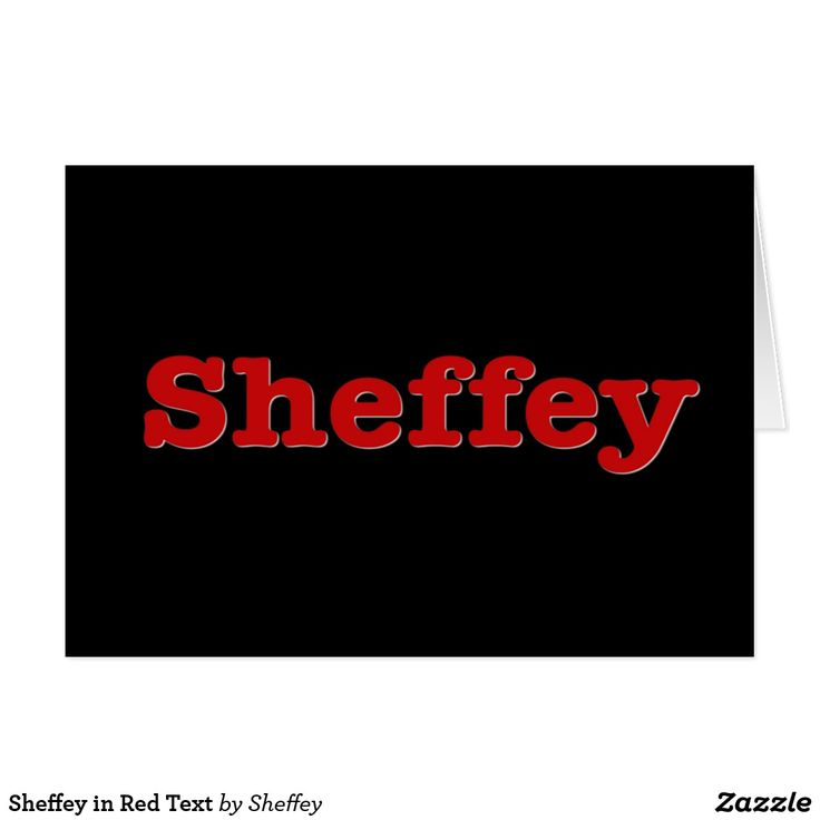 Sheffey in Red Text Greeting  Card