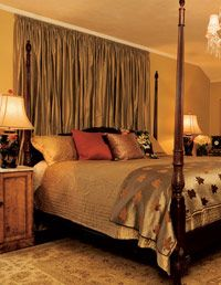 Curtain Headboard Ideas | Home Decorating - DIY Headboard Projects at WomansDay.com - Woman's ...