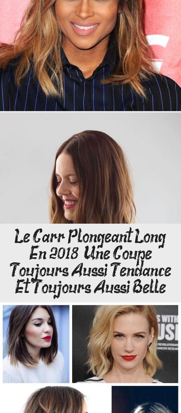 Le Carré Plongeant Long En 2018 - Une Coupe Toujours Aussi Tendance Et Toujours Aussi Belle en ...