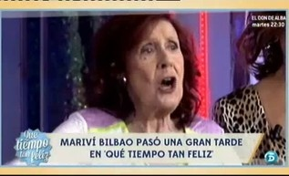 Homenaje a Mariví Bilbao http://www.telecinco.es/quetiempotanfeliz/Homenaje-Marivi-Bilbao_2_1588155075.html