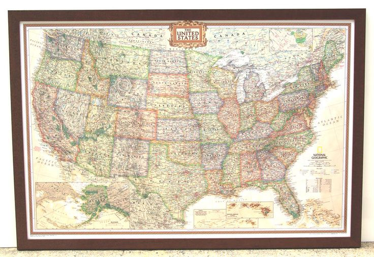 14 best framed maps images on pinterest framed maps map frame and framed united states map with national geo exec style and mahogany frame gumiabroncs Choice Image