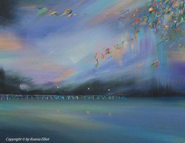 Grange Jetty Lights (commission piece)