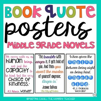 Classroom Decorations: Inspirational Character Quote Posters for Middle Grades