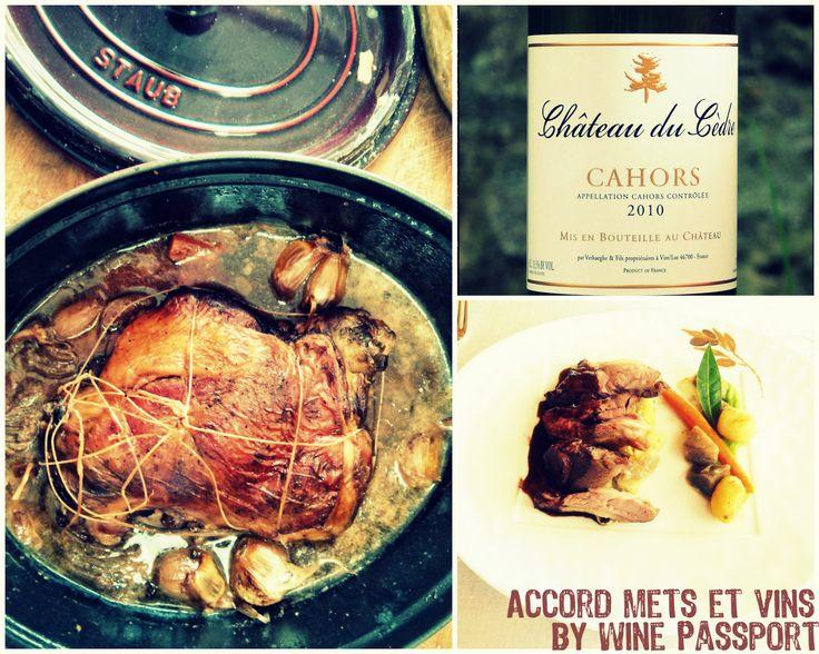 Accord mets et vin by Wine Passport : #gigot de 7h X #Cahors Château du Cèdre 2010