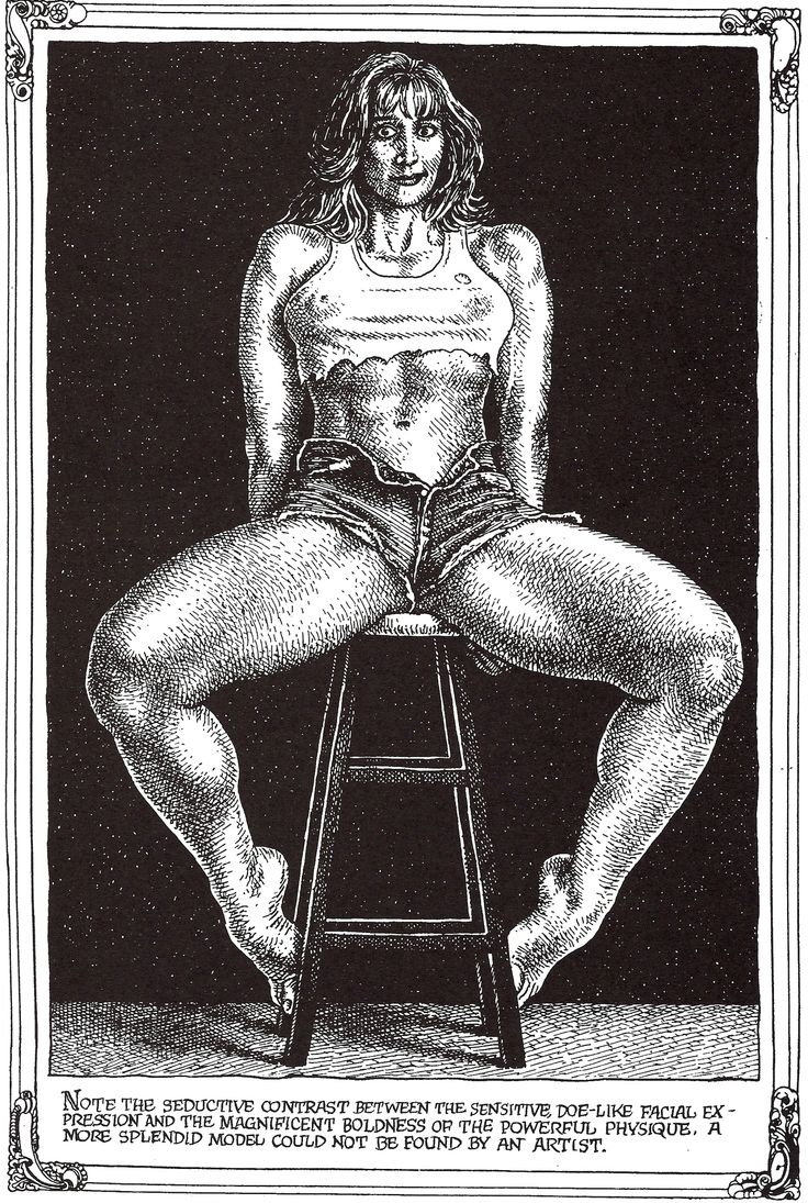 """Robert CRUMB 1996 - ART & BEAUTY MAGAZINE #1 - """"… the magnificent boldness of the powerful physique…"""""""