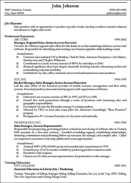 resume examples  (Resume and cover letter examples)