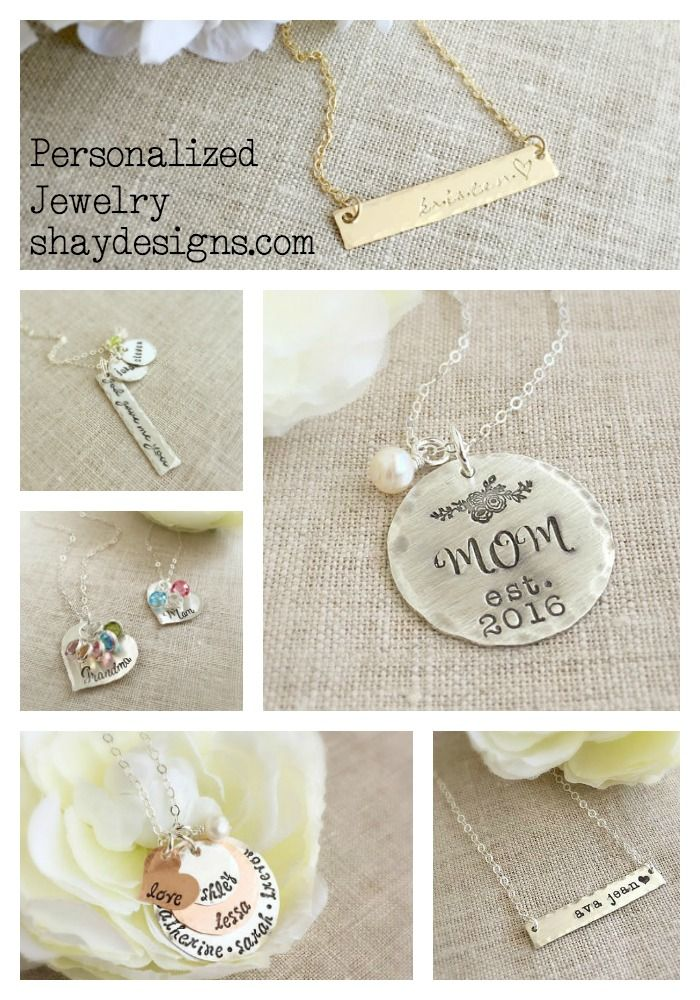 Personalized Jewelry for every occasion.  Mom jewelry, grad jewelry, bridesmaids, mothers day, every day.