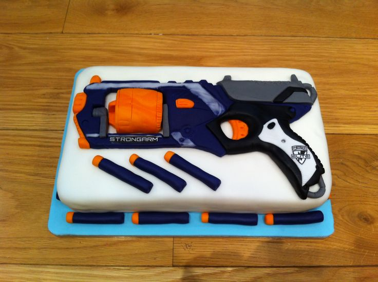 Best Cake Decorating Gun : 17 Best images about Nerf on Pinterest Birthday cakes ...