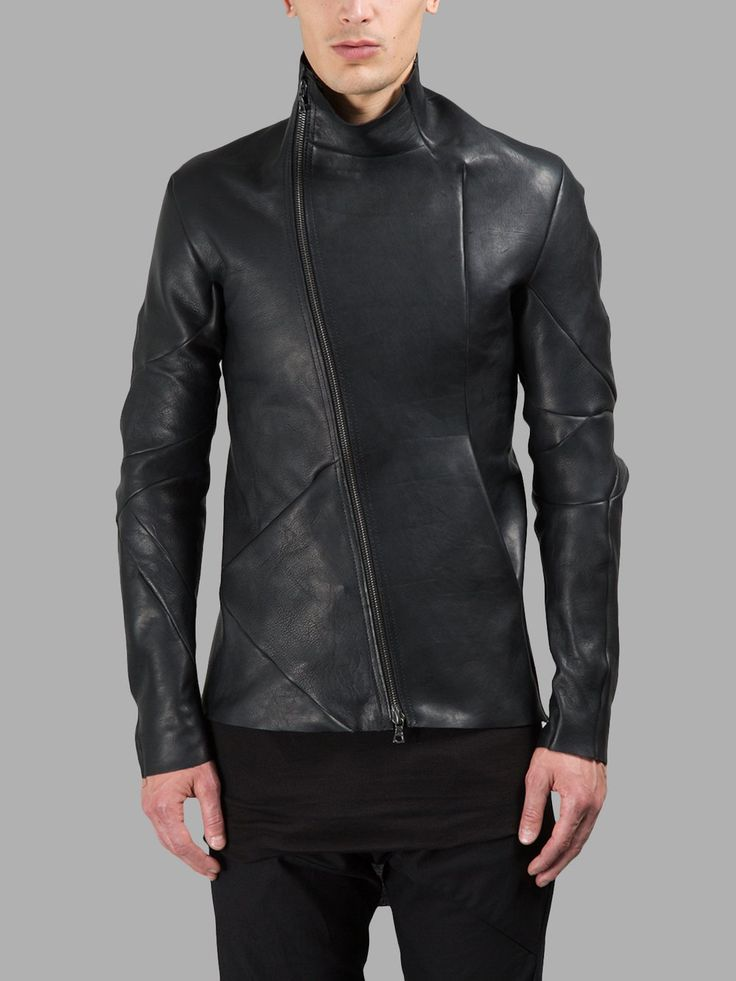 LEON EMANUEL BLANCK MEN'S BLACK LEATHER JACKET