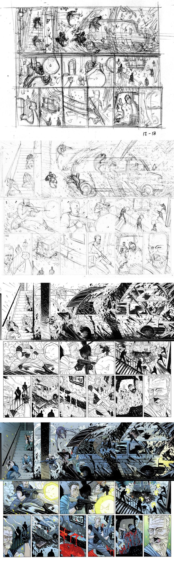 ART PROCESS: Legend of Luther Strode i1 pgs 12-13 by Tradd on DeviantArt