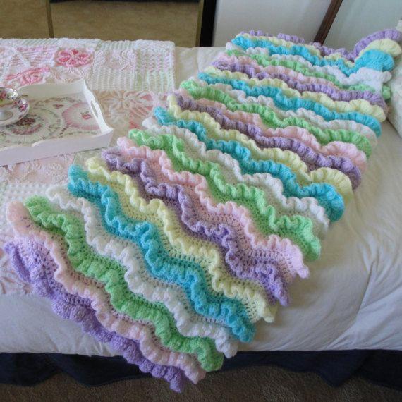 566 besten crochet blankets/edging Bilder auf Pinterest | Babydecken ...