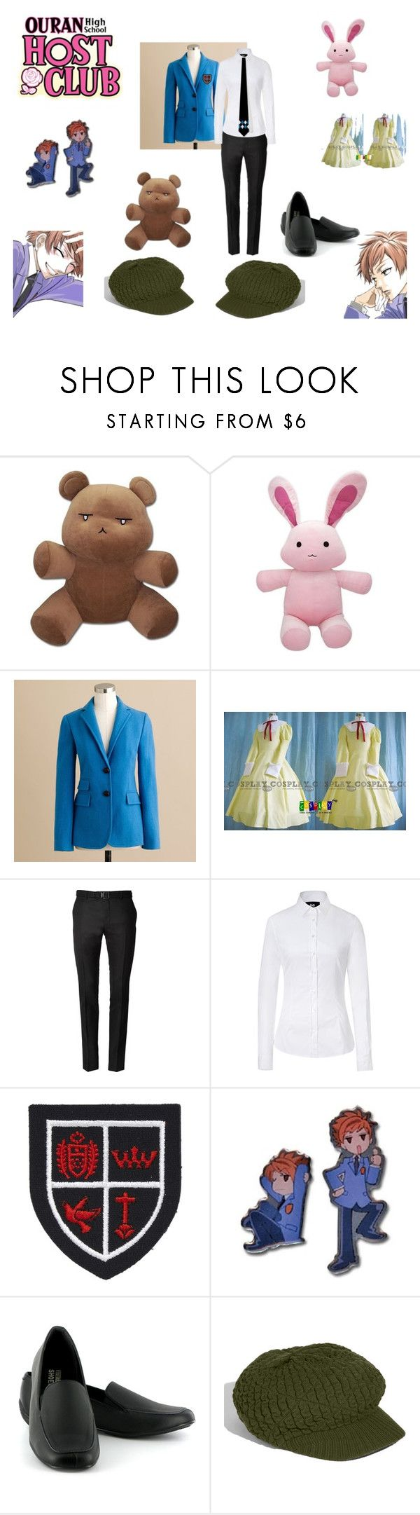 """""""Ouran High school Host Club"""" by ellebently ❤ liked on Polyvore featuring J.Crew, Yves Saint Laurent, D&G, Clapham, Vegetarian Shoes, Echo, usa-chan, square toe, baby blue and ouran"""