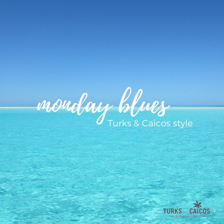 Monday blues have an entirely new meaning in the Caribbean.  Tag a friend who loves island life!  #TurksandCaicos #Caribbean #islandlife #islandguide #travelguide #travel #wanderlust #2017 #travelgoals #turquoise #mondayblues #monday #motivation