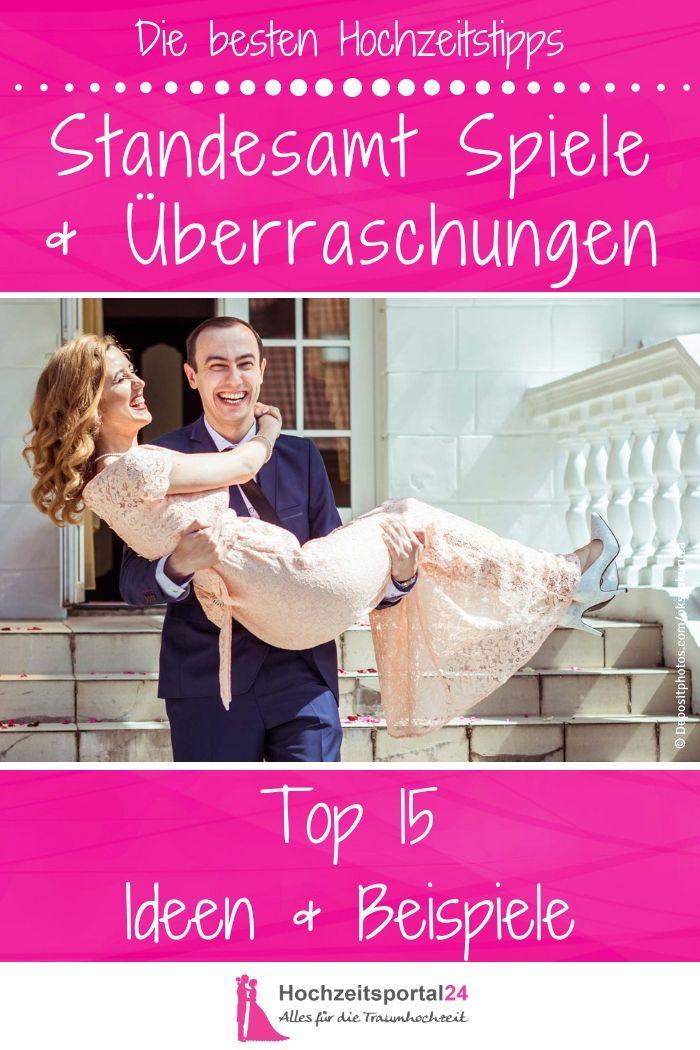 Die 15 besten Hochzeitsspiele & Überraschungen nach dem Standesamt!