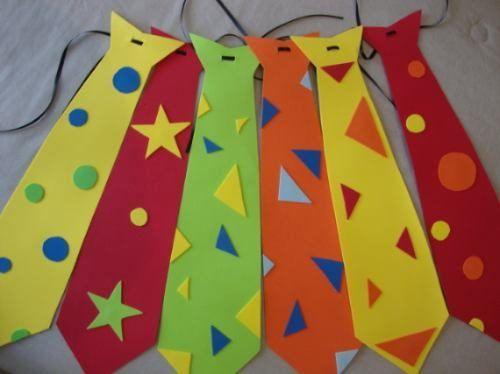 Corbata divertida goma eva - Imagui