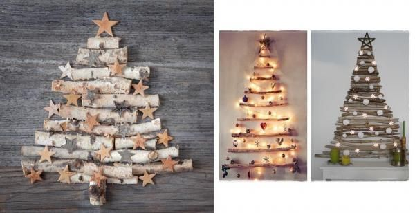 Árvores de Natal rústicas