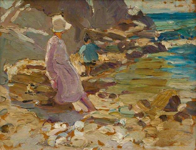 Dorothea Sharp (1874–1955) (Woman and Child on the Rocks)