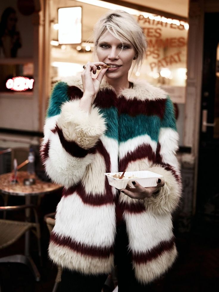 Le Fashion Blog -- Currently Craving: Colorful Fur & Fries -- Aline Weber for Maison Scotch Lookbook -- photo Le-Fashion-Blog-Currently-Craving-Colorful-Fur-Fries-Aline-Weber-Maison-Scotch-Lookbook.jpg
