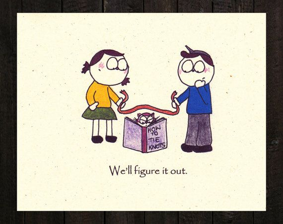 Tying the Knot Funny Save the Date Card by bjornthecat on Etsy, $40.00