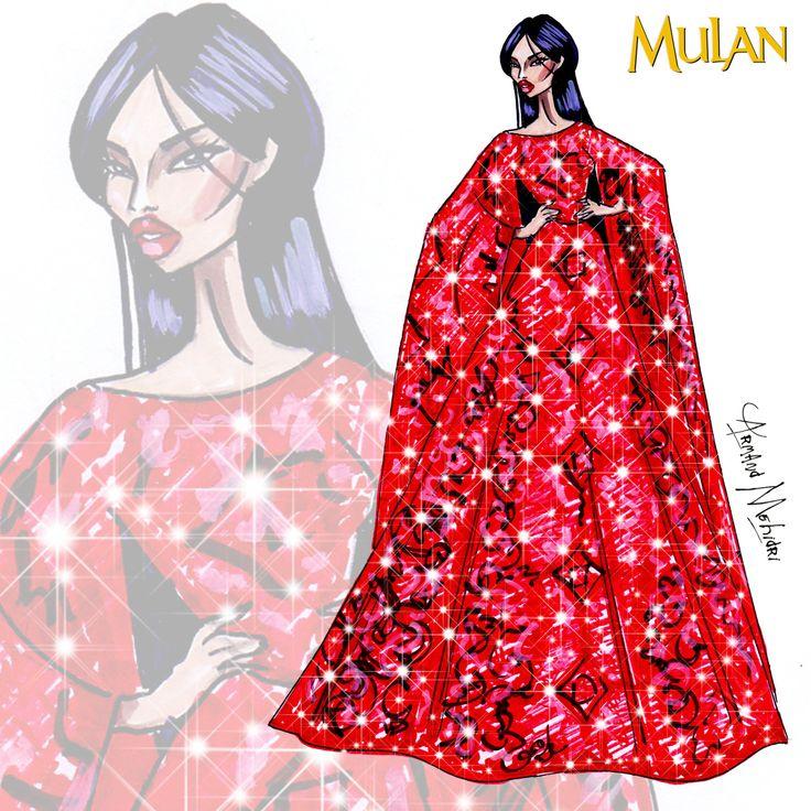 Mulan - Disney Haute Couture - by Armand Mehidri