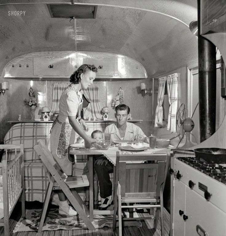 "August 1943. ""Middle River, Maryland. A Farm Security Administration housing project for Glenn L. Martin aircraft workers. A worker's family..."