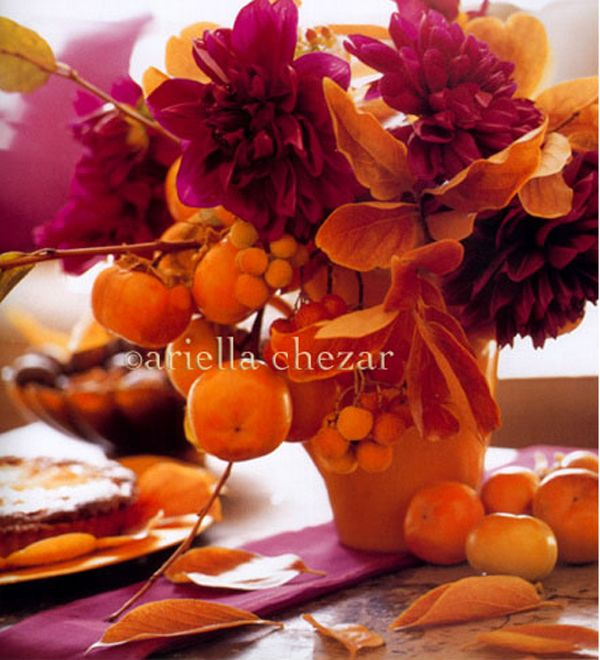 Thanksgiving Floral arrangement with fruit