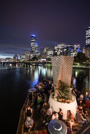one of my favorite Melbourne bars - Ponyfish Island, under the Pedestrian Bridge in Southbank.