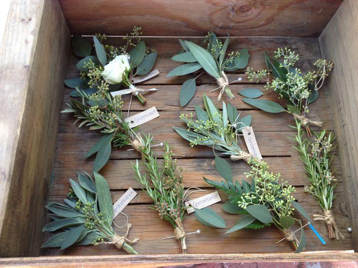 Eucalyptus And Babys Breath Bouquet