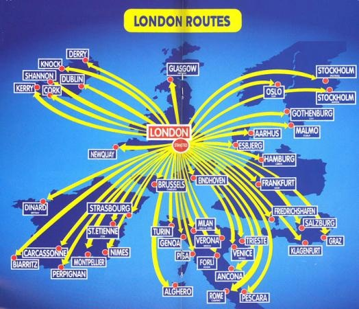 Ryanair Route Map 2002 Route Maps Map