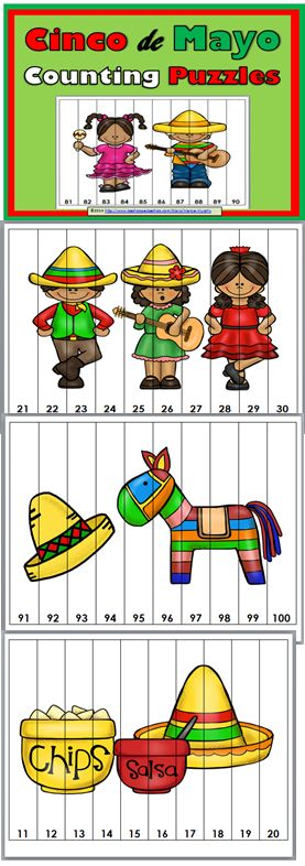 Cinco de Mayo Counting Puzzles