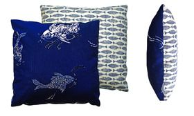 The Deep Blue Fish cushion from Christopher Daniel