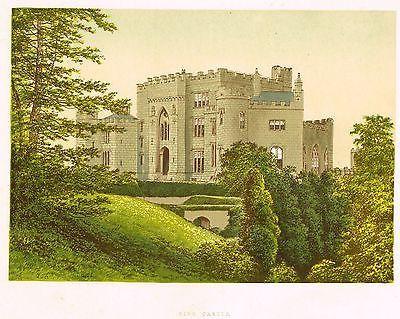 """Morris's County Seats - Castles - """"BIRR CASTLE"""" - Chromolith - 1866"""