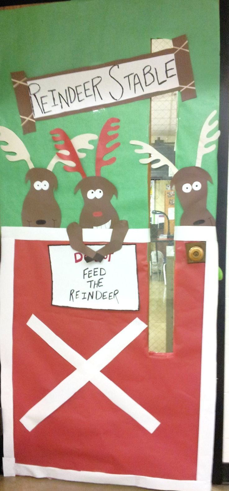 Cubicle christmas decorations - Christmas Door Decoration Bathroom Office Pharmacy Stockrooms
