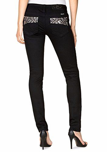 Miss Me Jeans Women's Black Skinny Aztec Silver Embroidered Pocket (28) ** You can find out more details at the link of the image. #WomensJeans