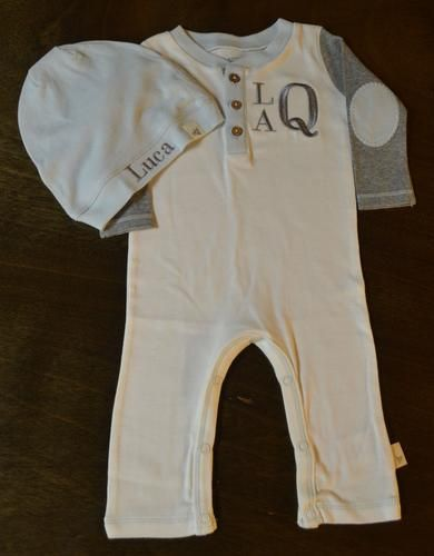 49 best baby boy images on pinterest baby boy baby boys and ivory and grey organic knit coverall baby boy personalized baby boy going home outfit negle Image collections