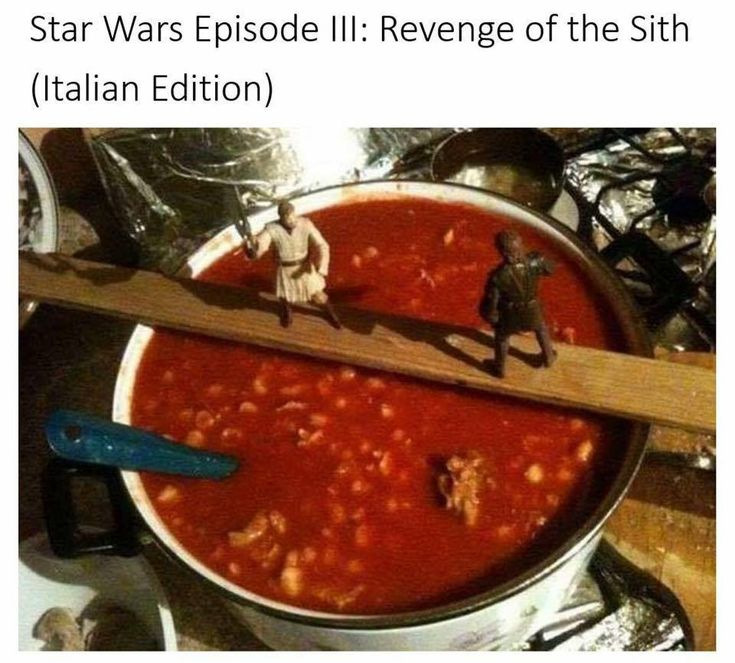 Revenge of the Sith - Italian Edition - Star Wars humor