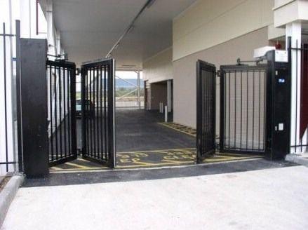 pintu pagar besi lipat   pagar modern, pintu, pintu gerbang