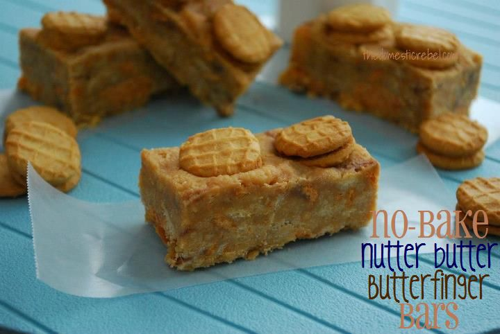 No Bake Nutter Butter butterfinger Bars | Cookies, Brownies and Bars ...