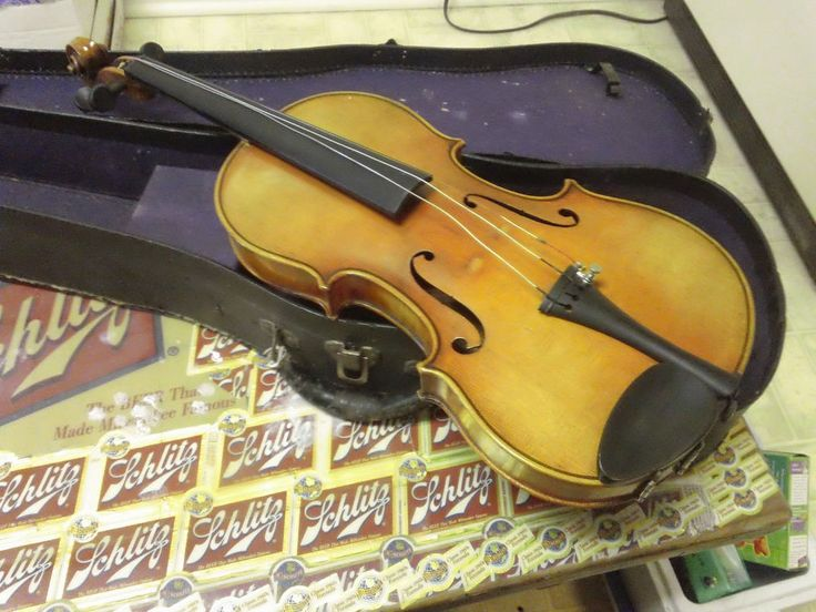 $126 Violin Vinta Copy of Antonius Stradivarius, Made in Czecho-Slovakia flamed back #Unbranded needs strings and bridge and shoulder rest
