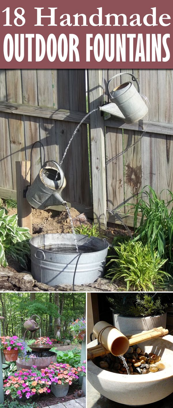 18 Awesome Outdoor Fountains You Can Make Yourself Rustic Country Garden Pinterest And