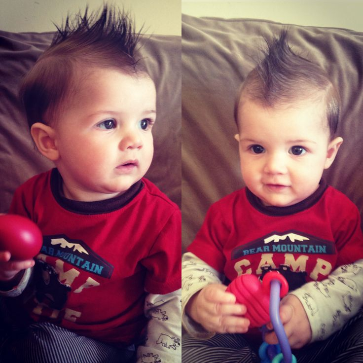 Mohawk. Baby boy hairstyle. 9 month old.  Baby boy hair cuts