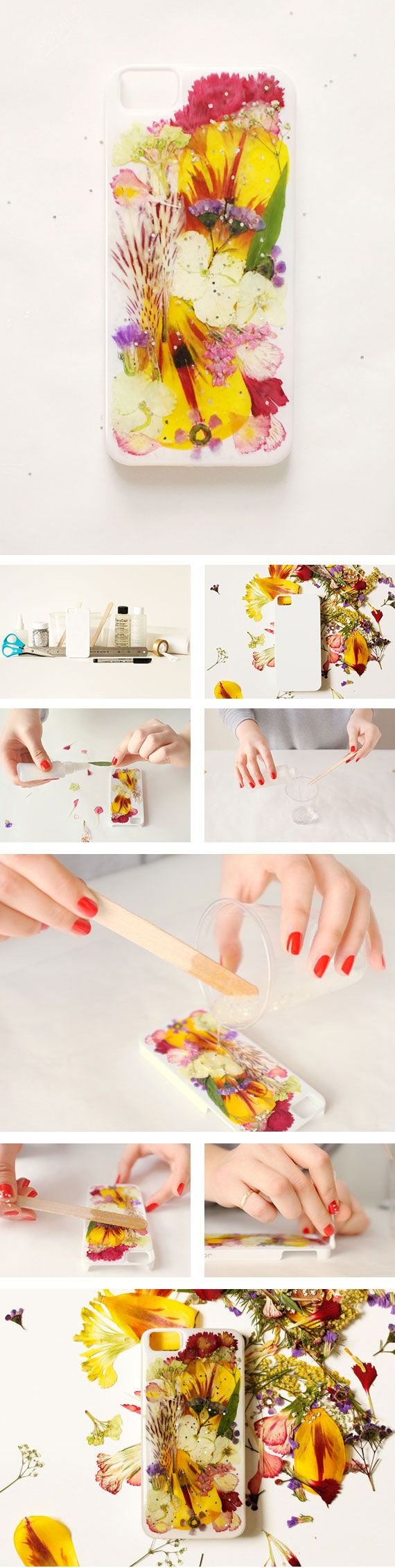 Preserve some of summer's color with a DIY pressed-flower iPhone case! Full how-to on the Etsy Blog. #DIY