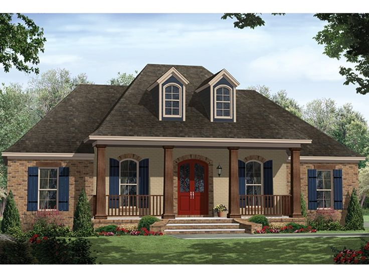 this lovely country style home with french influences house plan has 1657 square feet of living space the 1 story floor plan includes 3 bedrooms