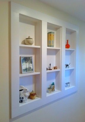 Finally Pictures Of What I Ve Been Talking About Shelves Between The Studs Bathroom Wall