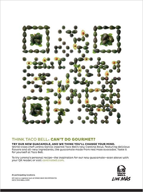 Taco Bell Whips Up QR Codes From Lemons and Avocados | Adweek