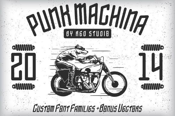 Check out Punk Machina Typeface + Bonus by fopifopi on Creative Market http://crtv.mk/bkBZ