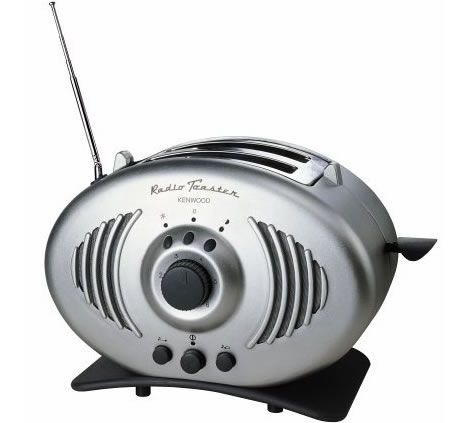 Kenwood Radio Toaster - posted in 2007, this item is on Amazon for about 4 times as much as it originally sold for.  Form, function, FAB!